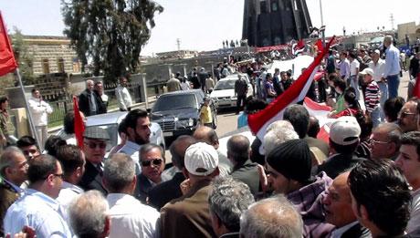 Suriye'de gösteriler büyüyor galerisi resim 8