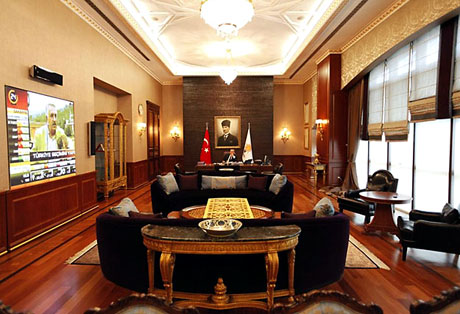 İşte Erdoğan'ın lüks çalışma ofisi galerisi resim 1