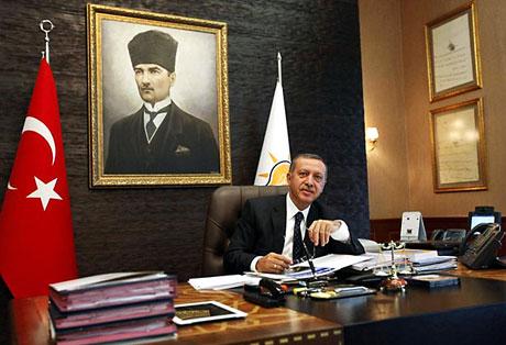 İşte Erdoğan'ın lüks çalışma ofisi galerisi resim 2
