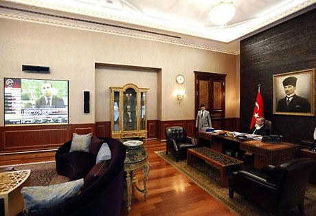 İşte Erdoğan'ın lüks çalışma ofisi galerisi resim 3