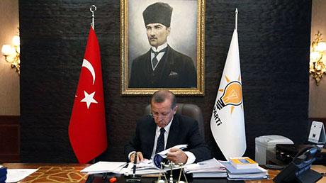 İşte Erdoğan'ın lüks çalışma ofisi galerisi resim 8