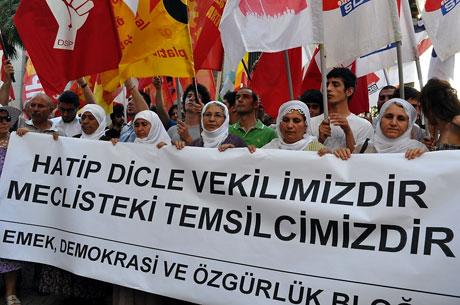 YSK'ya Diyarbakır ve Taksim'de protesto galerisi resim 34