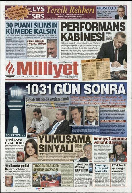 Yeni Kabine manşetlere böyle yansıdı galerisi resim 10
