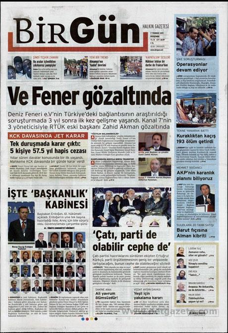 Yeni Kabine manşetlere böyle yansıdı galerisi resim 2