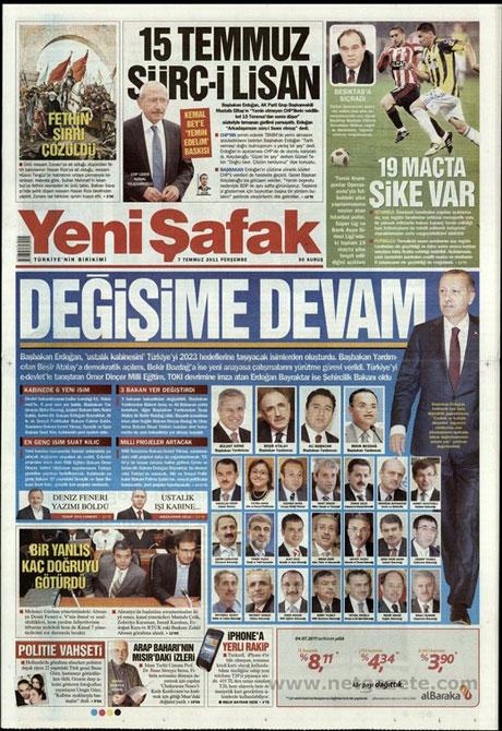 Yeni Kabine manşetlere böyle yansıdı galerisi resim 22