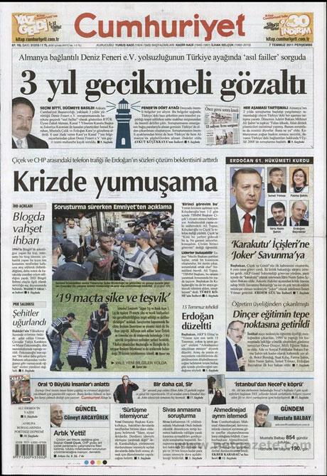 Yeni Kabine manşetlere böyle yansıdı galerisi resim 4