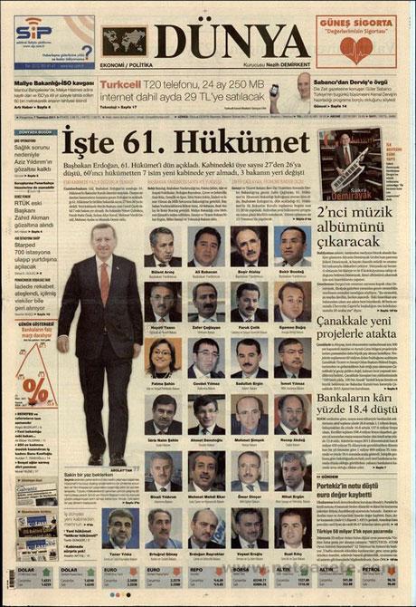 Yeni Kabine manşetlere böyle yansıdı galerisi resim 5