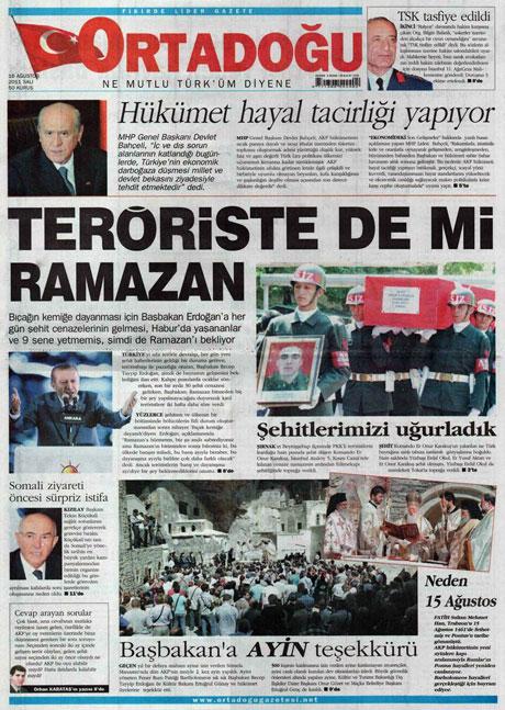 Günün gazete manşetleri! galerisi resim 10