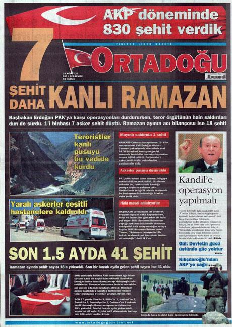 Türk medyasında Kandil manşetleri galerisi resim 10