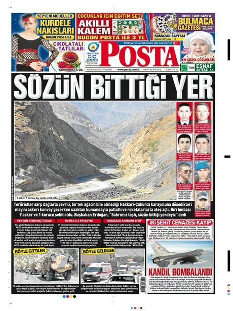 Türk medyasında Kandil manşetleri galerisi resim 11