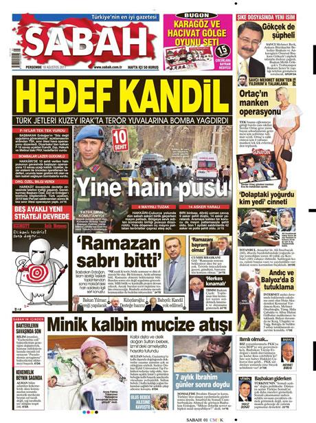 Türk medyasında Kandil manşetleri galerisi resim 13