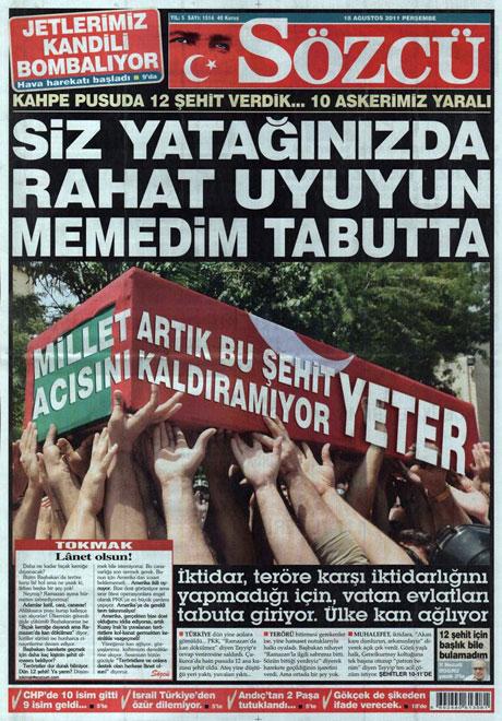 Türk medyasında Kandil manşetleri galerisi resim 14