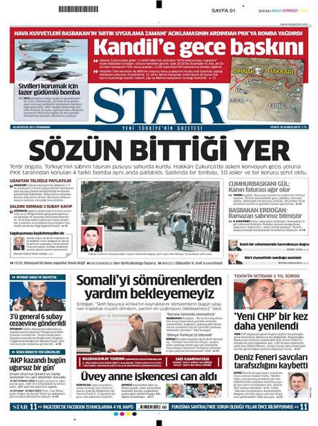 Türk medyasında Kandil manşetleri galerisi resim 15