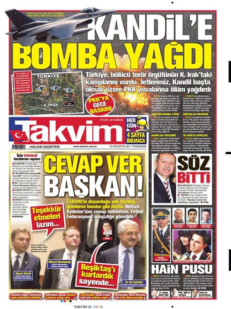 Türk medyasında Kandil manşetleri galerisi resim 16