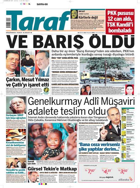 Türk medyasında Kandil manşetleri galerisi resim 17