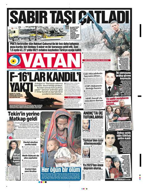 Türk medyasında Kandil manşetleri galerisi resim 19