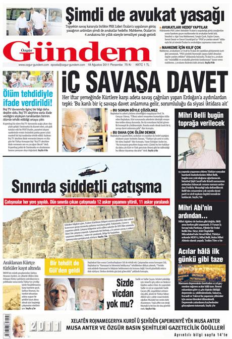 Türk medyasında Kandil manşetleri galerisi resim 21