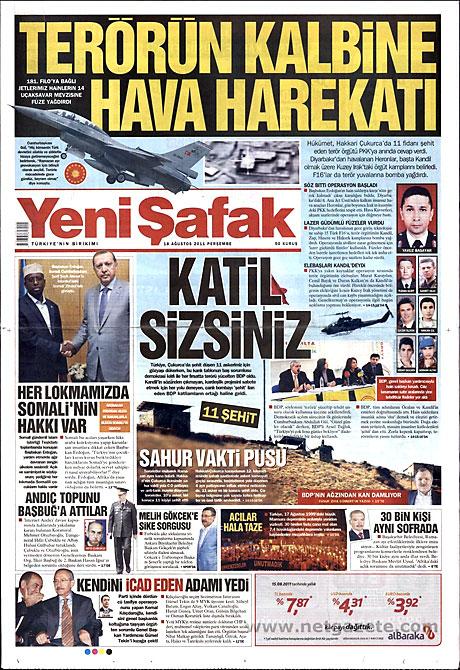 Türk medyasında Kandil manşetleri galerisi resim 23