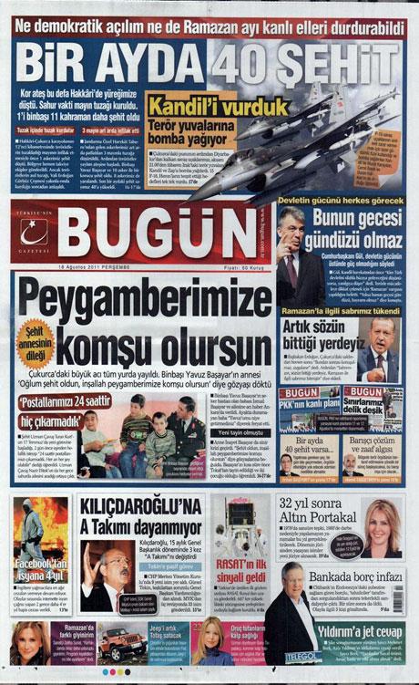 Türk medyasında Kandil manşetleri galerisi resim 3