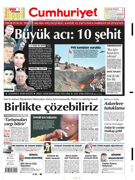 Türk medyasında Kandil manşetleri galerisi resim 4