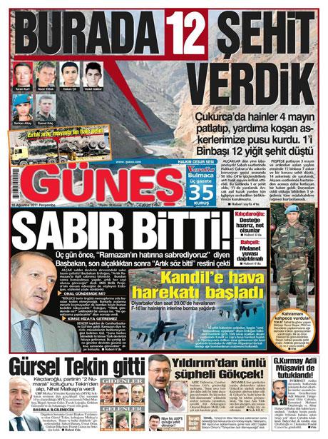 Türk medyasında Kandil manşetleri galerisi resim 5