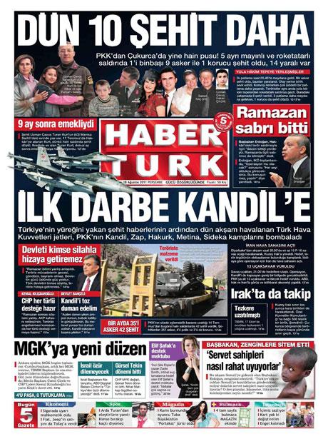 Türk medyasında Kandil manşetleri galerisi resim 6