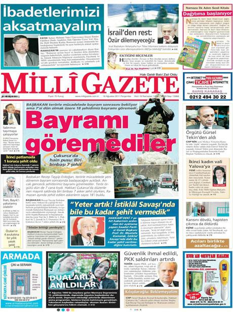 Türk medyasında Kandil manşetleri galerisi resim 8