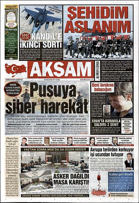 Yeni Şafak'tan BDP'ye manşet'ten cevap! galerisi resim 1