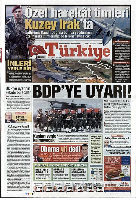 Yeni Şafak'tan BDP'ye manşet'ten cevap! galerisi resim 18