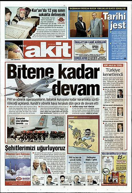 Yeni Şafak'tan BDP'ye manşet'ten cevap! galerisi resim 19