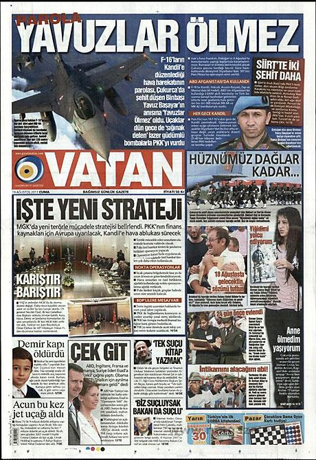 Yeni Şafak'tan BDP'ye manşet'ten cevap! galerisi resim 20
