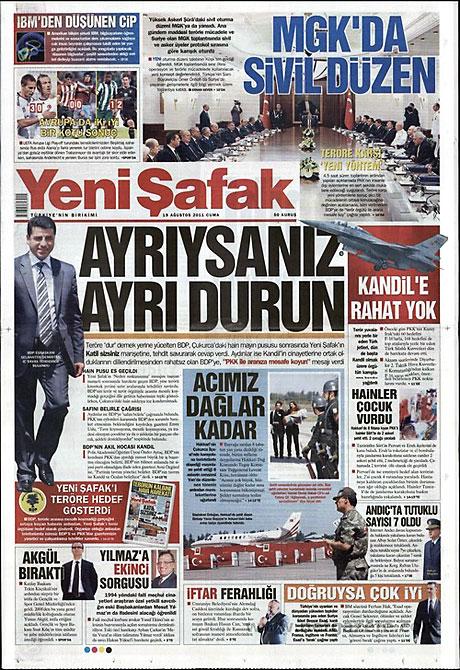 Yeni Şafak'tan BDP'ye manşet'ten cevap! galerisi resim 22