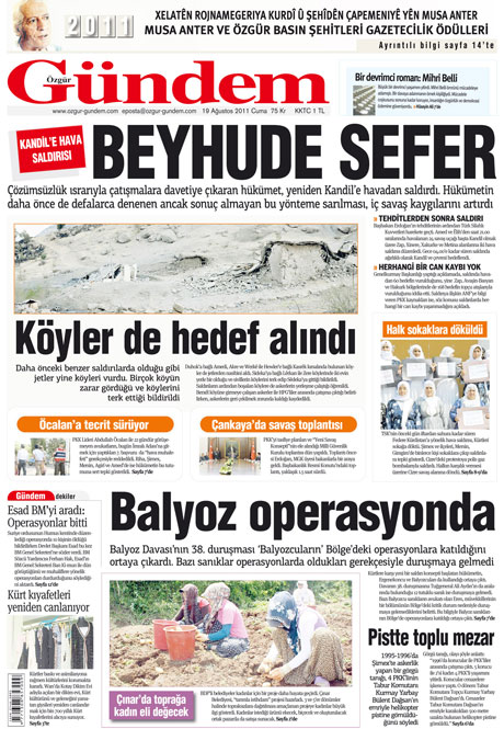 Yeni Şafak'tan BDP'ye manşet'ten cevap! galerisi resim 24