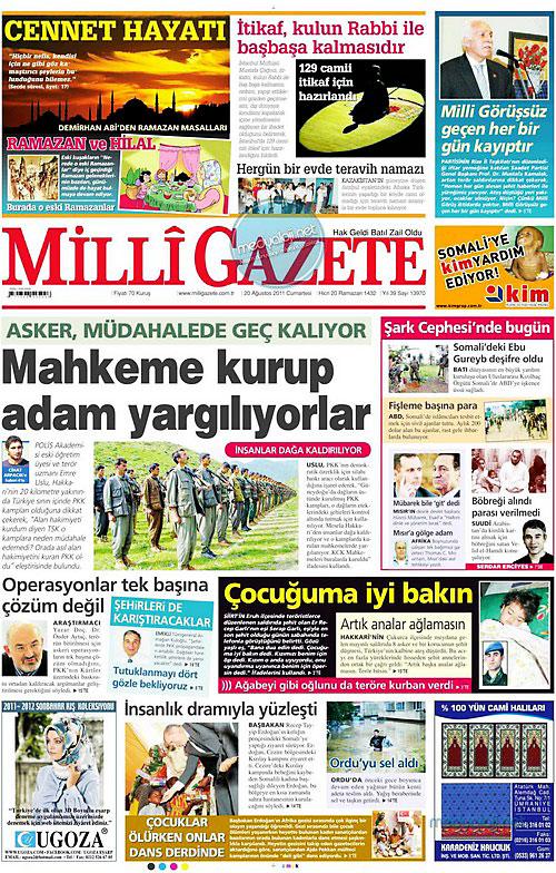 Günün Gazete Manşetleri (20.08.11) galerisi resim 10