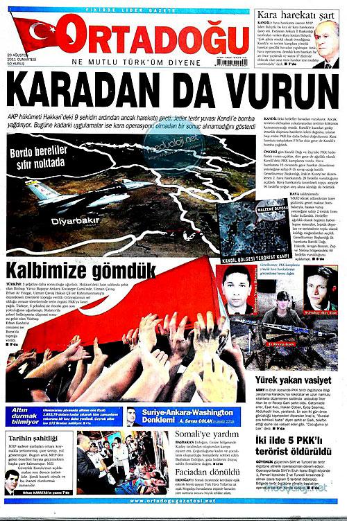Günün Gazete Manşetleri (20.08.11) galerisi resim 12