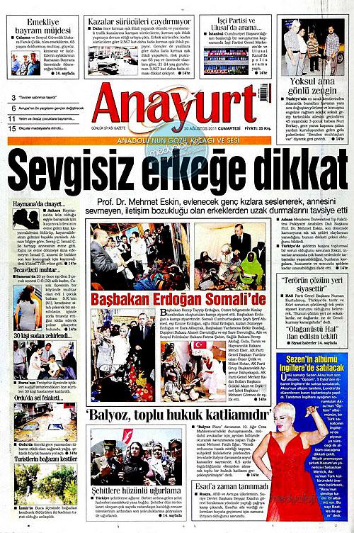 Günün Gazete Manşetleri (20.08.11) galerisi resim 2