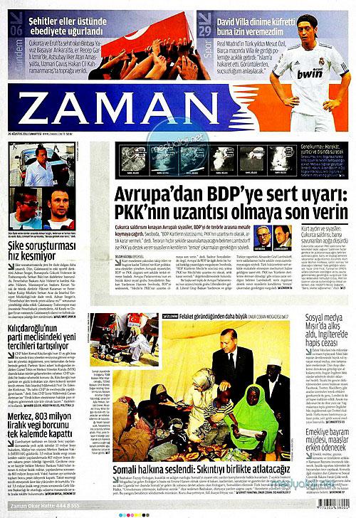 Günün Gazete Manşetleri (20.08.11) galerisi resim 25