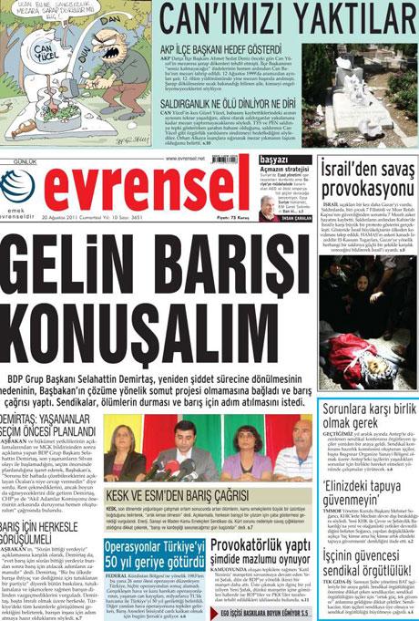 Günün Gazete Manşetleri (20.08.11) galerisi resim 27