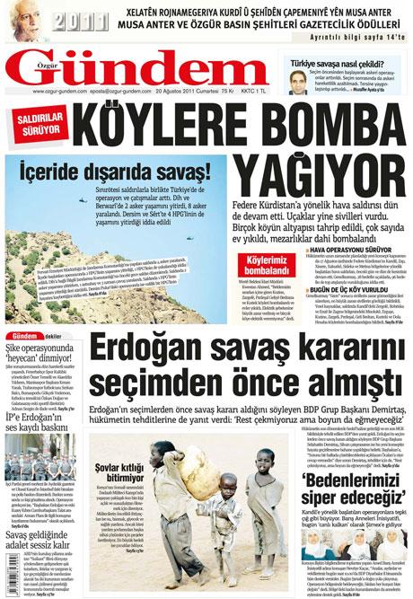 Günün Gazete Manşetleri (20.08.11) galerisi resim 28