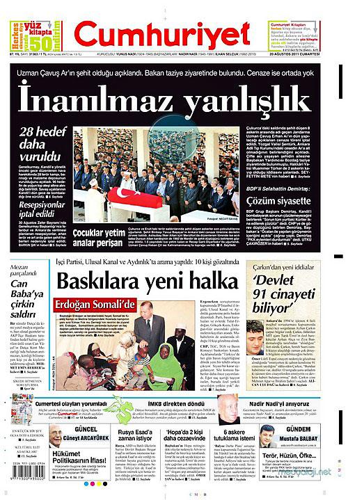 Günün Gazete Manşetleri (20.08.11) galerisi resim 5