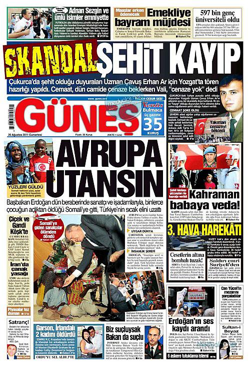 Günün Gazete Manşetleri (20.08.11) galerisi resim 7