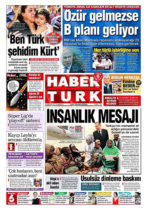 Günün Gazete Manşetleri (20.08.11) galerisi resim 8