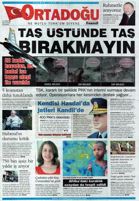 Taraf'tan BDP'ye geri dön manşeti! galerisi resim 10