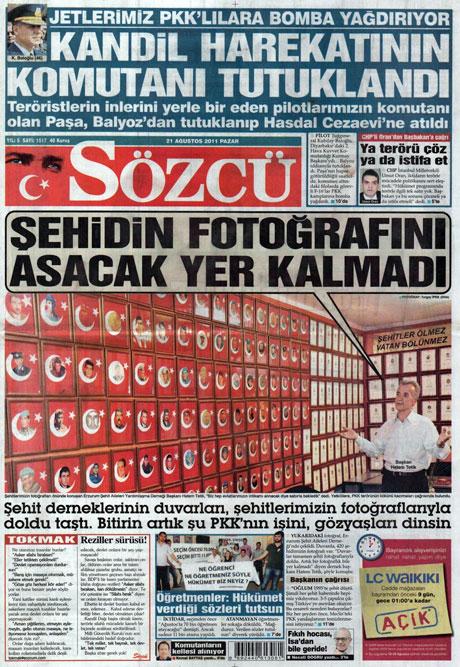 Taraf'tan BDP'ye geri dön manşeti! galerisi resim 14