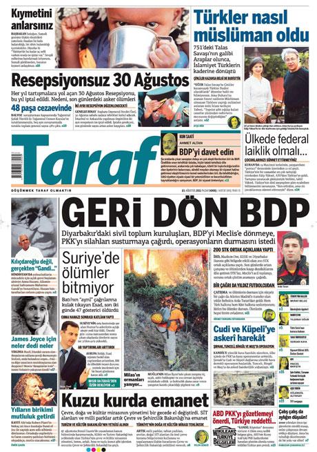 Taraf'tan BDP'ye geri dön manşeti! galerisi resim 17