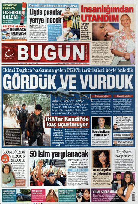 Taraf'tan BDP'ye geri dön manşeti! galerisi resim 3