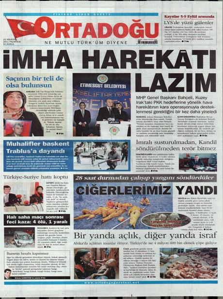 Günün önemli gazete manşetleri (22.08.11) galerisi resim 11
