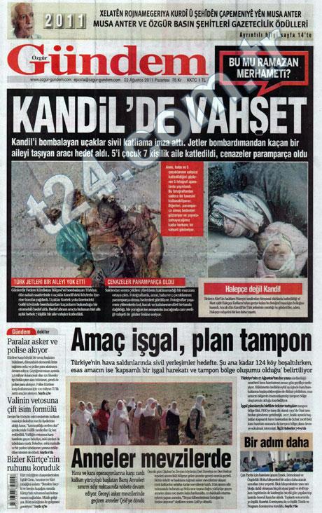 Günün önemli gazete manşetleri (22.08.11) galerisi resim 12
