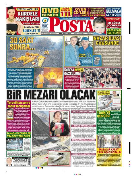 Günün önemli gazete manşetleri (22.08.11) galerisi resim 13