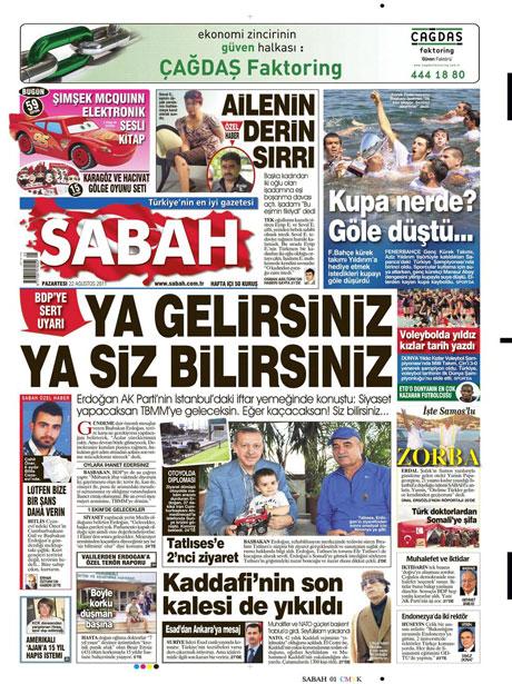 Günün önemli gazete manşetleri (22.08.11) galerisi resim 15